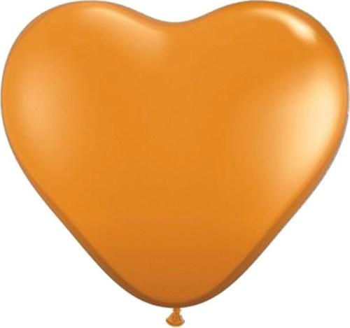 Μπαλόνι μεγάλη μανταρινί καρδιά