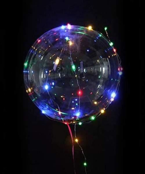 Διάφανο μπαλόνι φωτιζόμενο με πολύχρωμο LED
