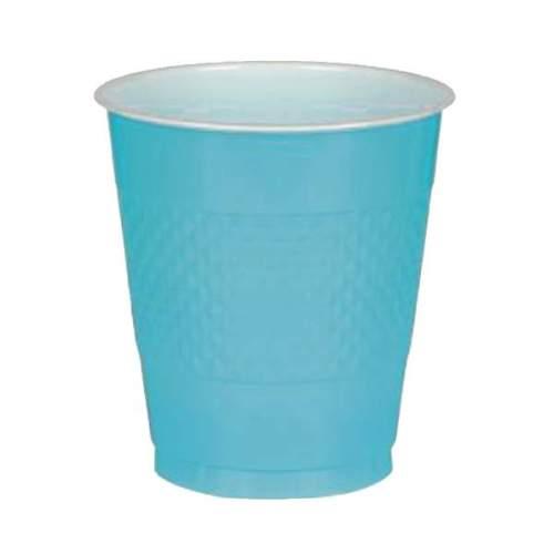 Ποτήρια πάρτυ πλαστικά γαλάζιο Καραϊβικής (10 τεμ)