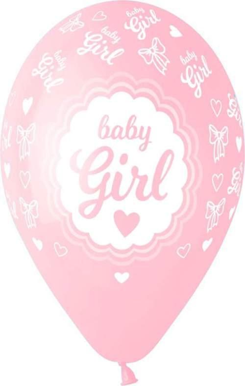 Μπαλόνι τυπωμένο Baby Girl καρδούλες