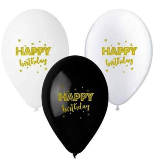 Μπαλόνι τυπωμένο για γενέθλια χρυσό 'Happy Birthday'