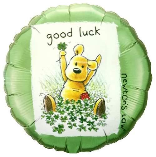Μπαλόνι Good Luck με αρκουδάκι