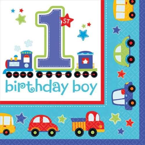 Χαρτοπετσέτες '1st Birthday Boy' (16 τεμ)