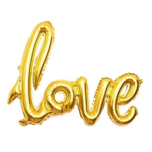 Μπαλόνι αγάπης ''Love'' Χρυσό