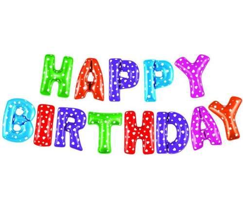Μπαλόνι γενεθλίων ''Happy Birthday'' Πολύχρωμο (13 τεμ)