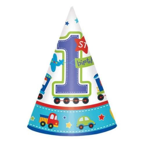 Καπελάκια χάρτινα 1st birthday boy (8 τεμ)