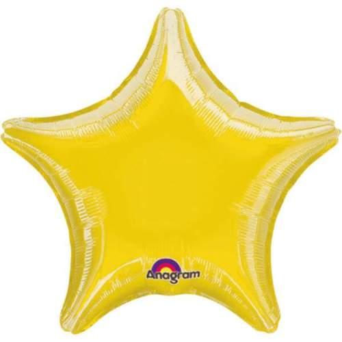 Μπαλόνι αστέρι 18 Μεταλλικό Κίτρινο
