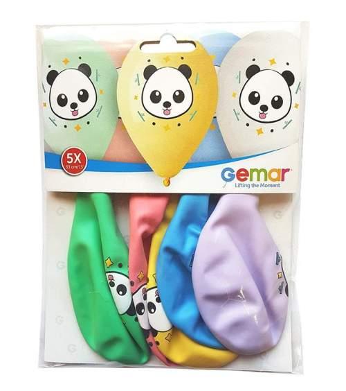 12'' Panda παστέλ τυπωμένα λάτεξ μπαλόνια (5 τεμ)