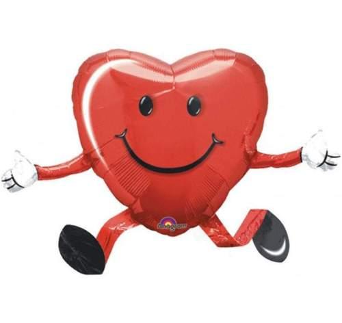 Μπαλόνι αγάπης Airwalker χαμογελαστή Καρδιά