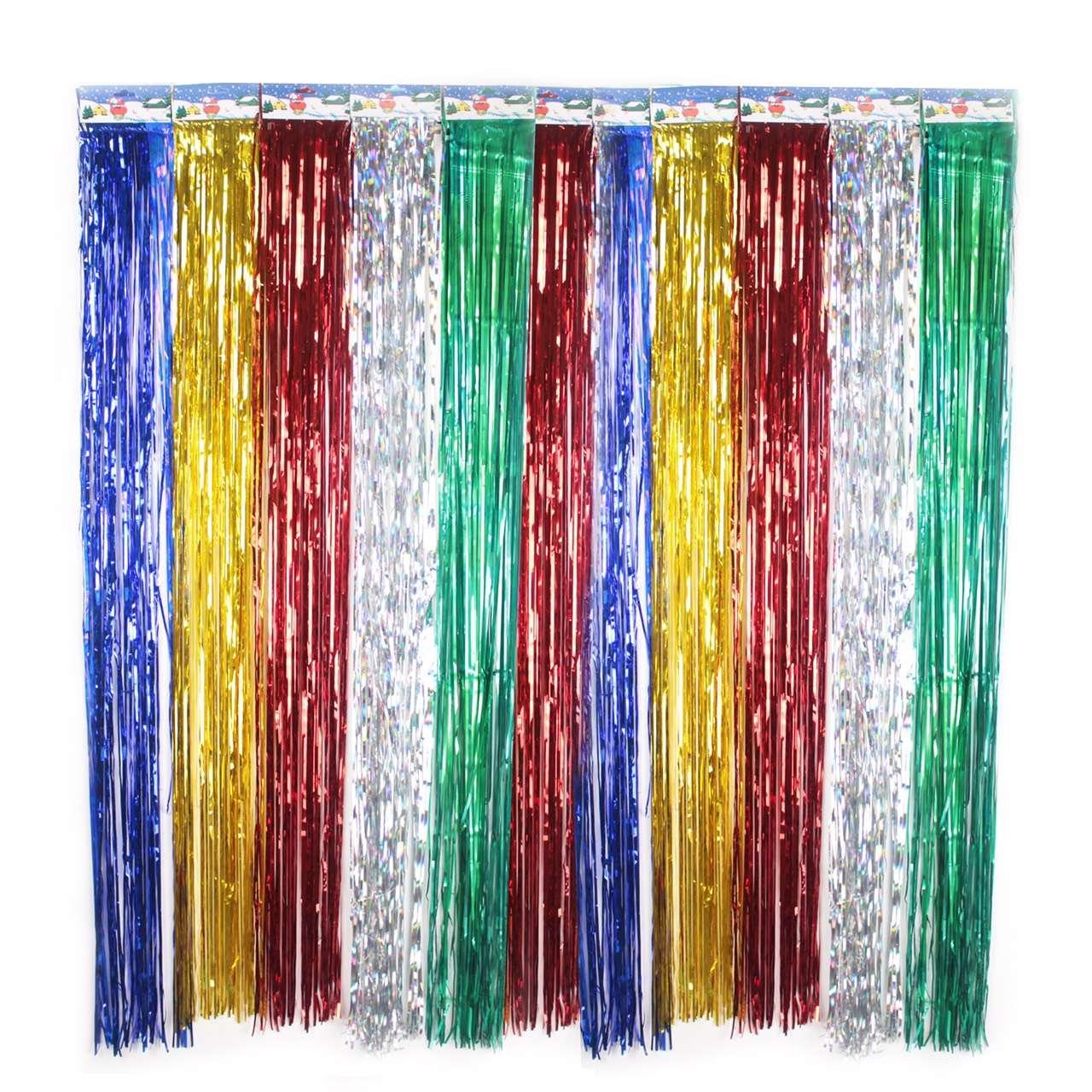 metallic foil fringe curtains the