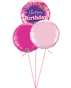 Birthday Hot Pink Balloons by Post