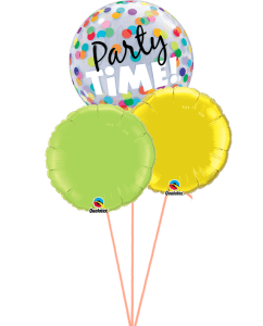 Party Time! Colourful Dots 3 Balloon Bouquet