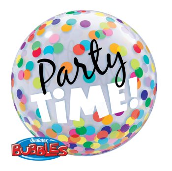 Party Time! Colourful Dots Bubble Balloon