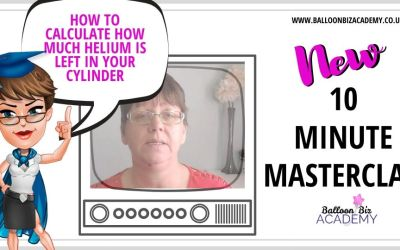 10 Minute Masterclass:  How to calculate how much helium you have left in your cylinder