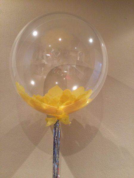 Deco Bubble With Confetti  Metallic Tassel 45  Balloon