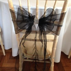 Black Chair Covers To Hire Pedicure Spa Chairs And Sashes