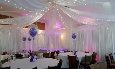 wedding chair covers hire hertfordshire chaise lounge chairs outdoor target white wall drapes/venue dressing windsor, wrasbury, datchet - balloon kingdom