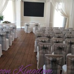 Silver Chair Covers Uk Toddler With Name Cover Hire In West Drayton Hayes Hounslow Balloon And White Dark Sash