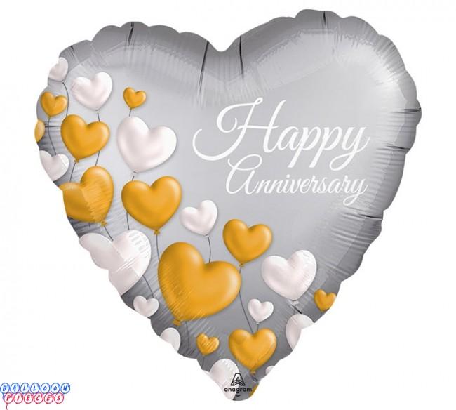 Happy 25th Anniversary 18 Metallic Balloon