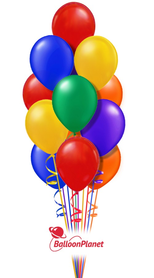 Classic Rainbow Just For Fun Balloon Bouquet 16 Balloons