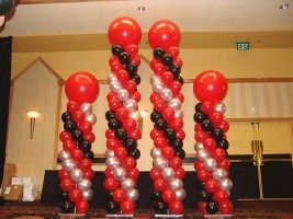 balloon-columns-red-silver-black