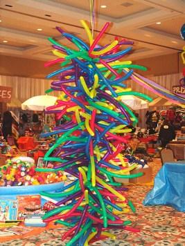Shag carpet balloon columns