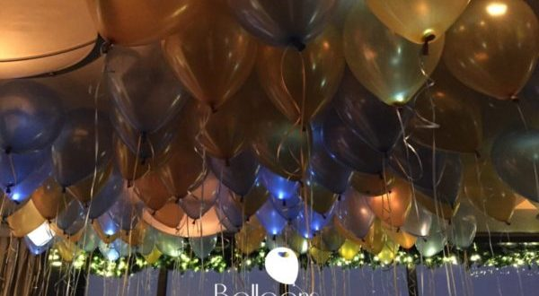 Balloon ceiling fill with lights - Balloons by Tommy