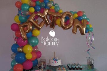 Rainbow Glitter Unicorn - Balloons by Tommy
