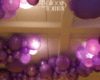 Bat Mitzvah purple organic balloon garland - Balloons by Tommy