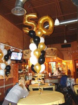 fifty birthday party balloon bouquet denver
