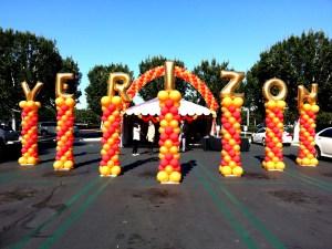 Verizon Balloon Columns