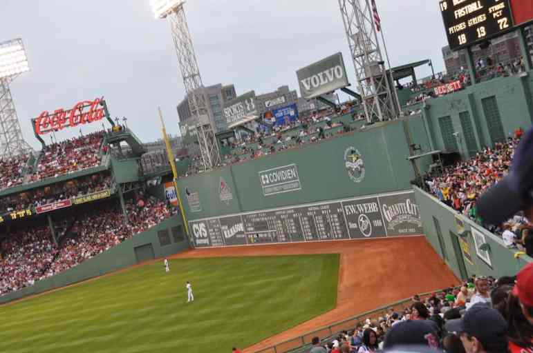 Green Monster Wall at Fenway Park