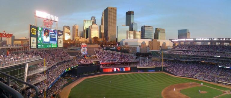 Panorama of Target Field