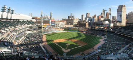 Panorama of Comerica Park
