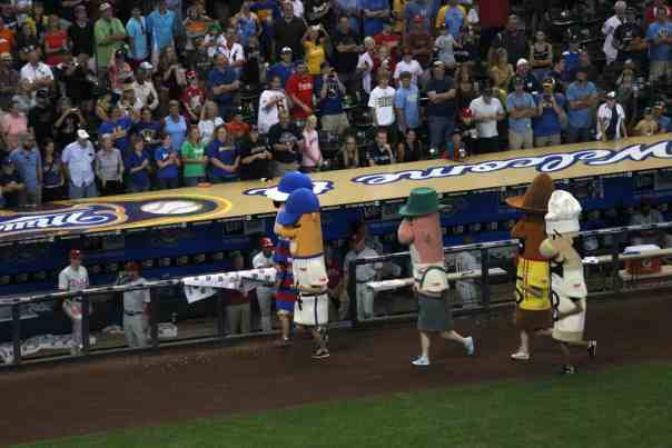Racers at Miller Park