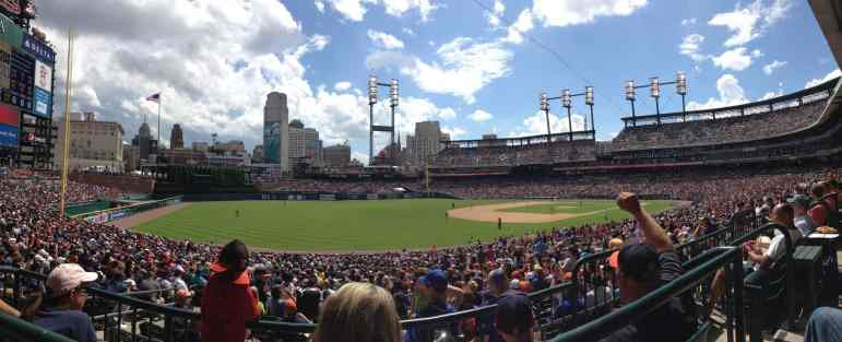 Seats at Comerica Park