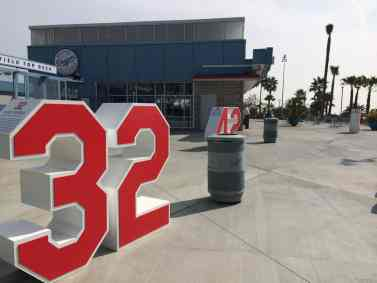 Numbers Outside Dodgers Stadium