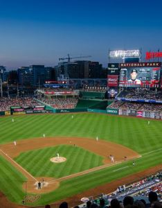 View from the upper deck at nationals park home of washington also ballpark ballparks baseball rh ballparksofbaseball