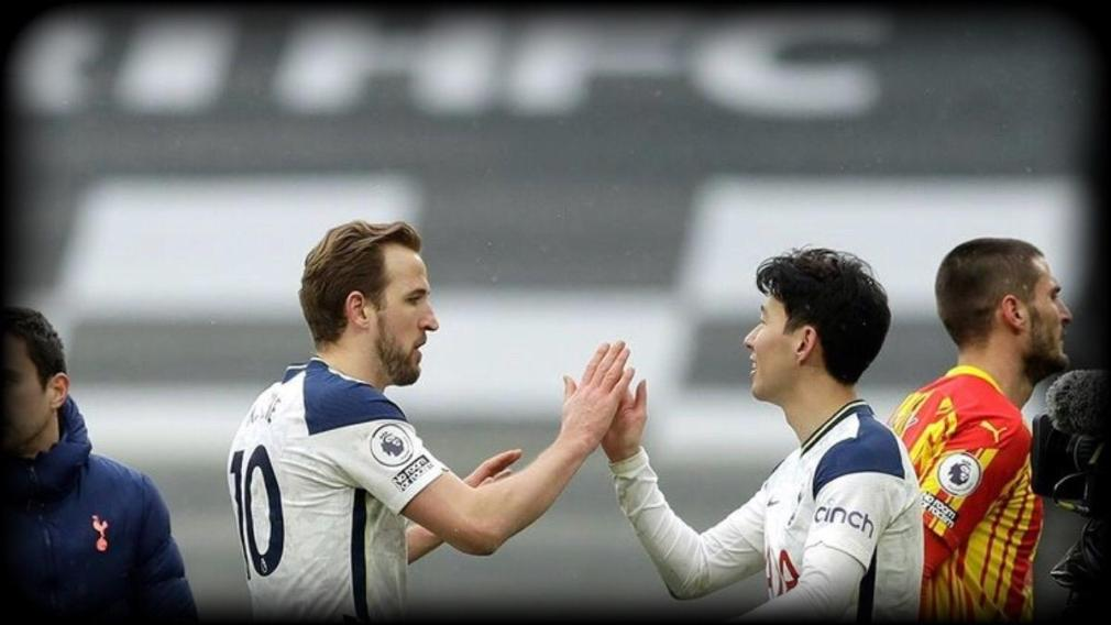 Harry Kane and Son Heung-min in an FA Cup clash