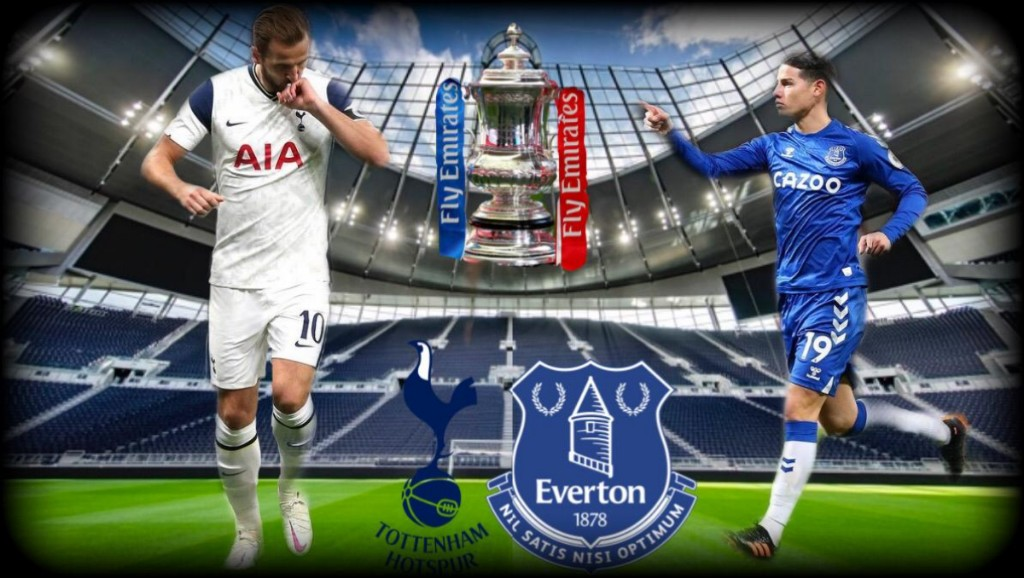 Harry Kane and James Rodriguez in an FA Cup clash