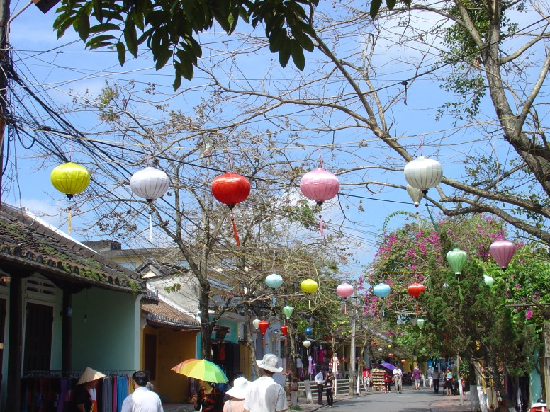 Lanterns decorating the old quarter of Hoi An.