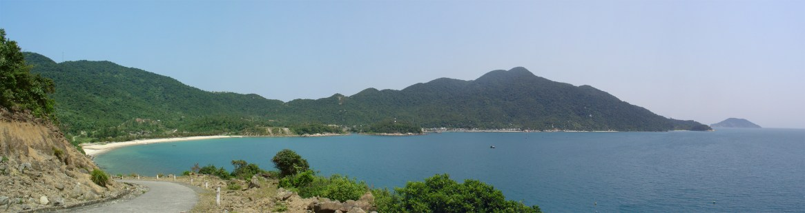 Panoramic view of the first beach I visited (15.956718,108.496084)