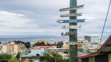 Punta Arenas - nur noch 13.643 km bis zum Stadion