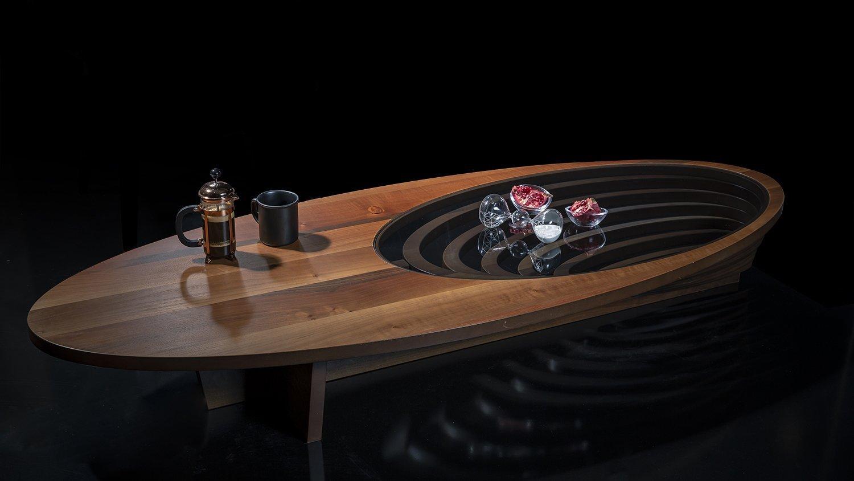 seaman design coffee table walnut veneer balmaison