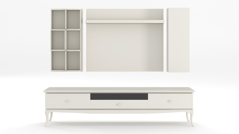 camellia meuble tv blanc