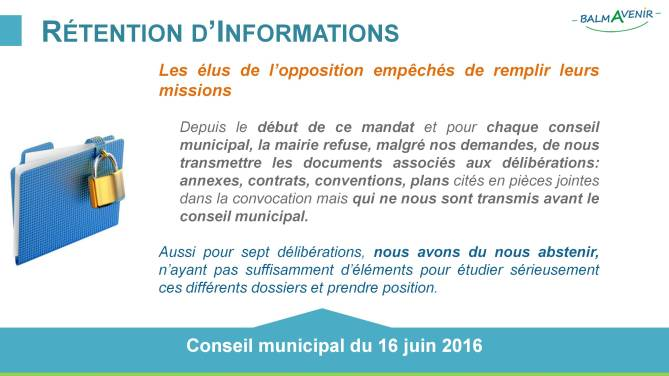 BalmAvenir - Conseil municipal du 16 juin 2016 - Diapo3
