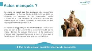 BalmAvenir - Conseil municipal du 18 octobre 2016 - Diapo 2