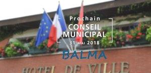 Prochain conseil municipal de Balma - 31 mai 2018