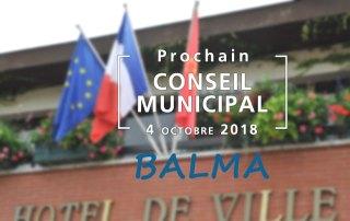 Prochain Conseil municipal le jeudi 4 octobre 2018