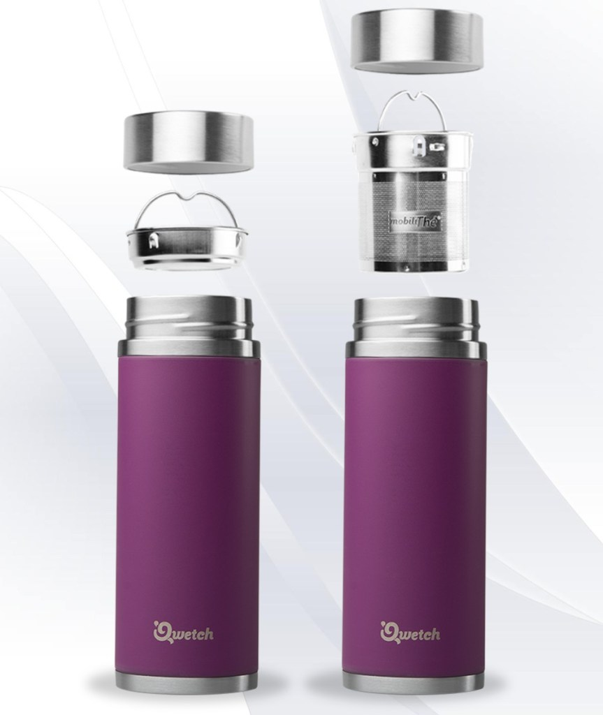 Purple Qwetch Insulated Stainless Steel tea mug - 300ml